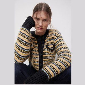 ZARA Knit Jacquard Jacket